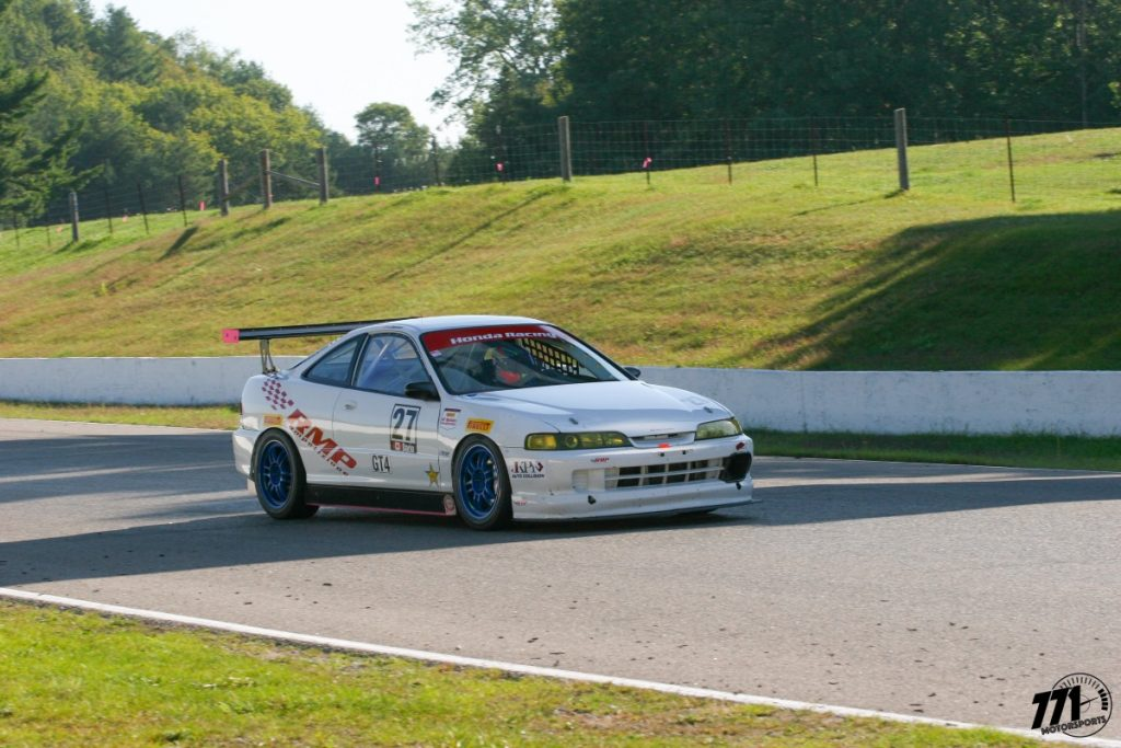 Contact with another car earlier in the race forced John to pull his Integra Type R into the pits. Luckily there was only minor damage and he would return for race three.